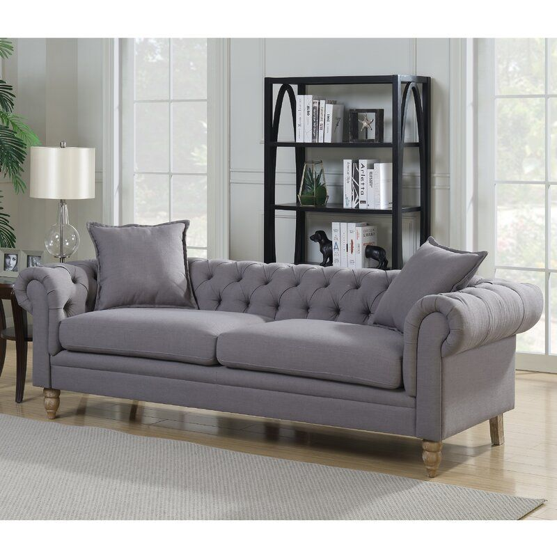 """85 Charming Rustic Bedroom Ideas And Designs 4 In 2020: Aida Chesterfield 85"""" Rolled Arm Sofa & Reviews"""