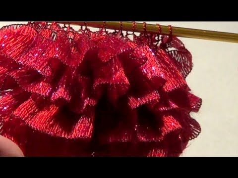 Knitted Ruffle / Ribbon Scarf or Decorate Your Knitted Project - http://www.knittingstory.eu/knitted-ruffle-ribbon-scarf-or-decorate-your-knitted-project/