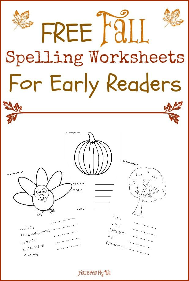 FREE Fall Spelling Worksheets For Early Readers - | Spelling ...