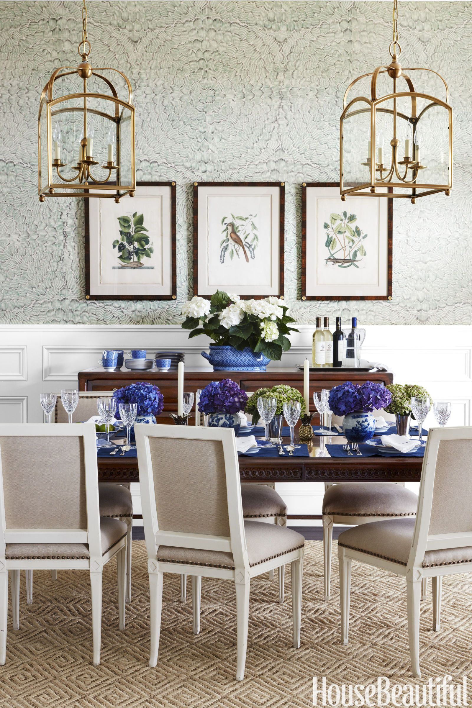 this blue and white house will cure your monday blues | dining