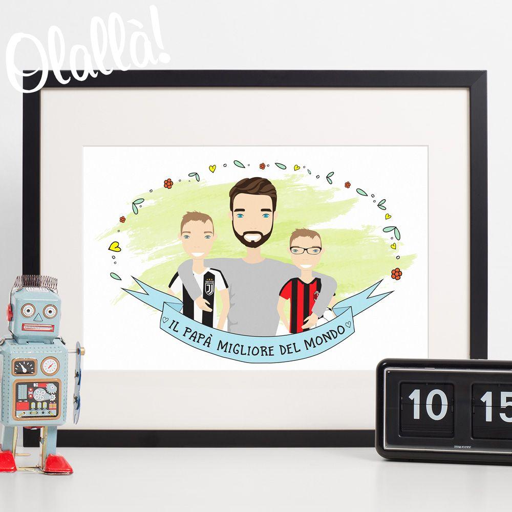 412435f66e Ritratto Digitale Personalizzato - Idea Regalo Festa del Papà   Olalla