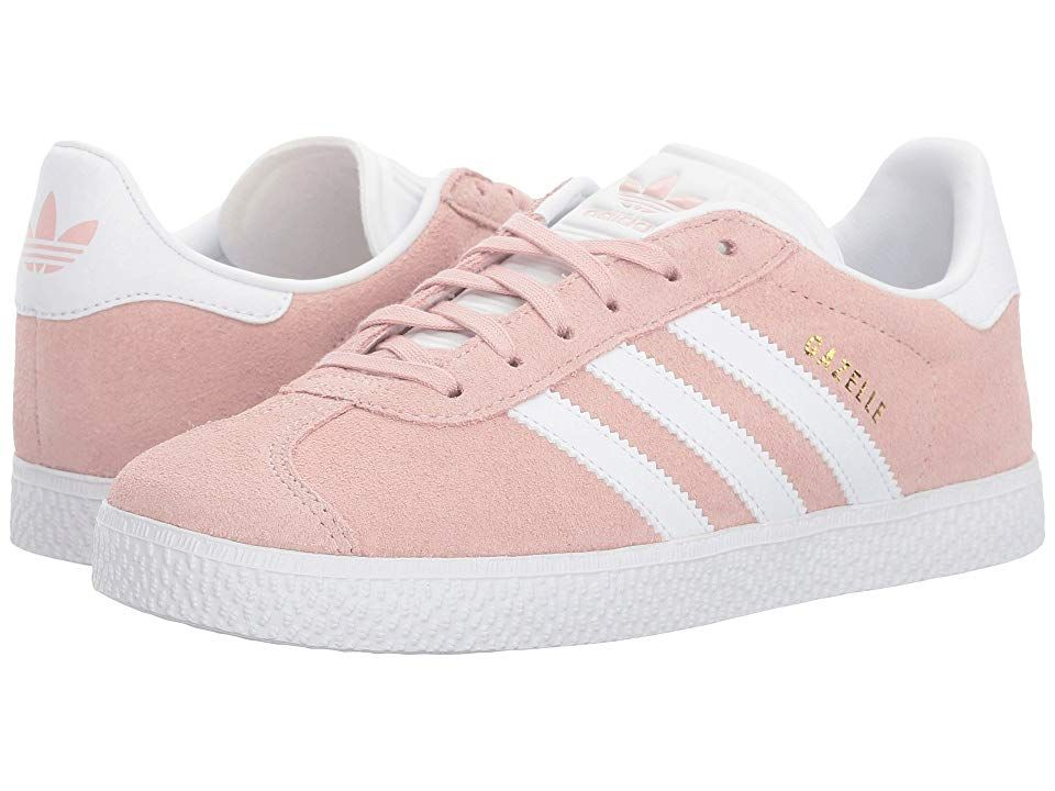 adidas Originals Kids Gazelle (Big Kid) Girls Shoes Icy Pink White Gold 995c5a5d2