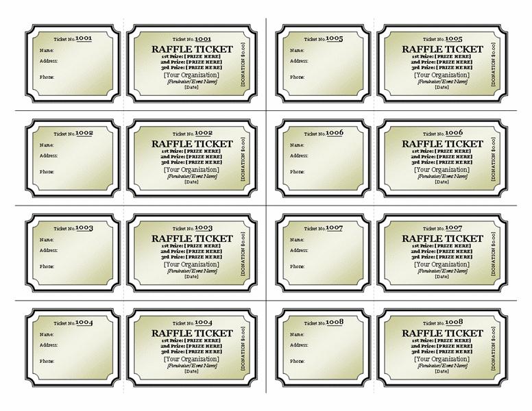 raffle tickets - templates