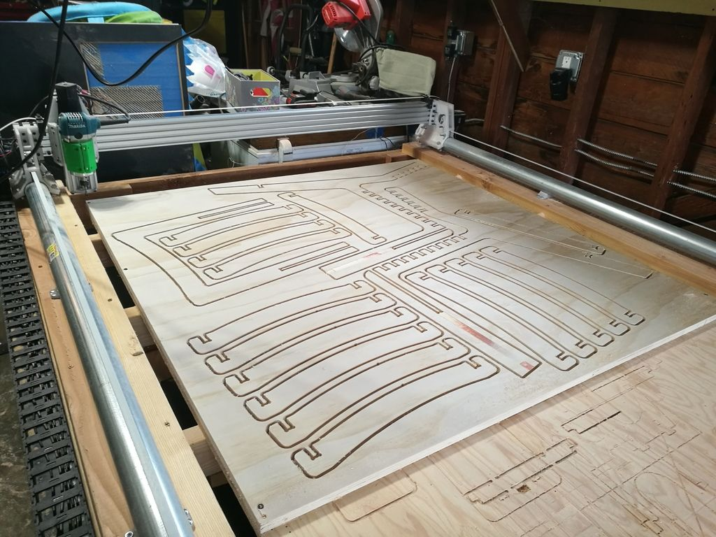 Plastic Monstrosity The 3D Printed CNC for 4x8' Plywood