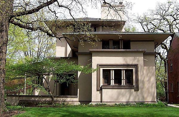 William Fricke House Prairie Style Frank Lloyd Wright 1901 Oak