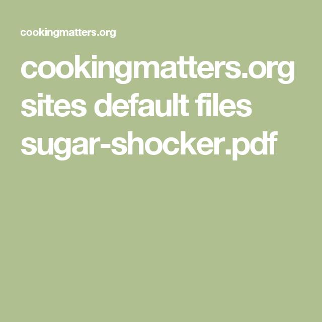 cookingmatters.org sites default files sugar-shocker.pdf