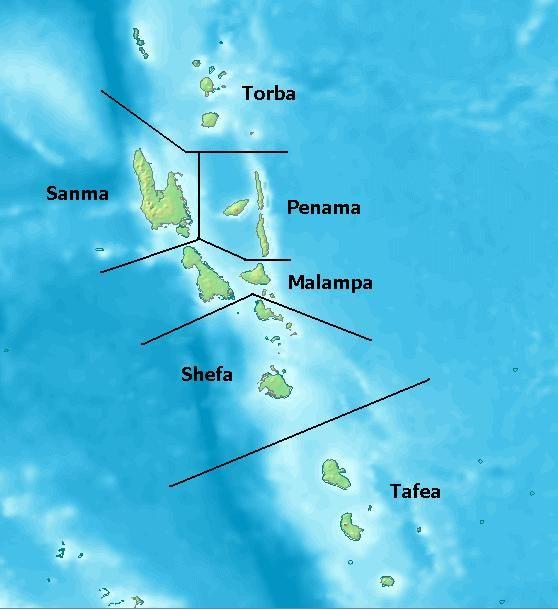 Vanuatu Provinces Vanuatu Wikipedie Oceania Republic of