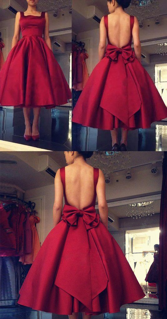 ea78e298c31 2017 Cheap Tea Length Prom Dresses Spaghetti Backless Burgundy Red Draped  Short Women Plus Size Formal Occasion Party Dress Dress Gowns