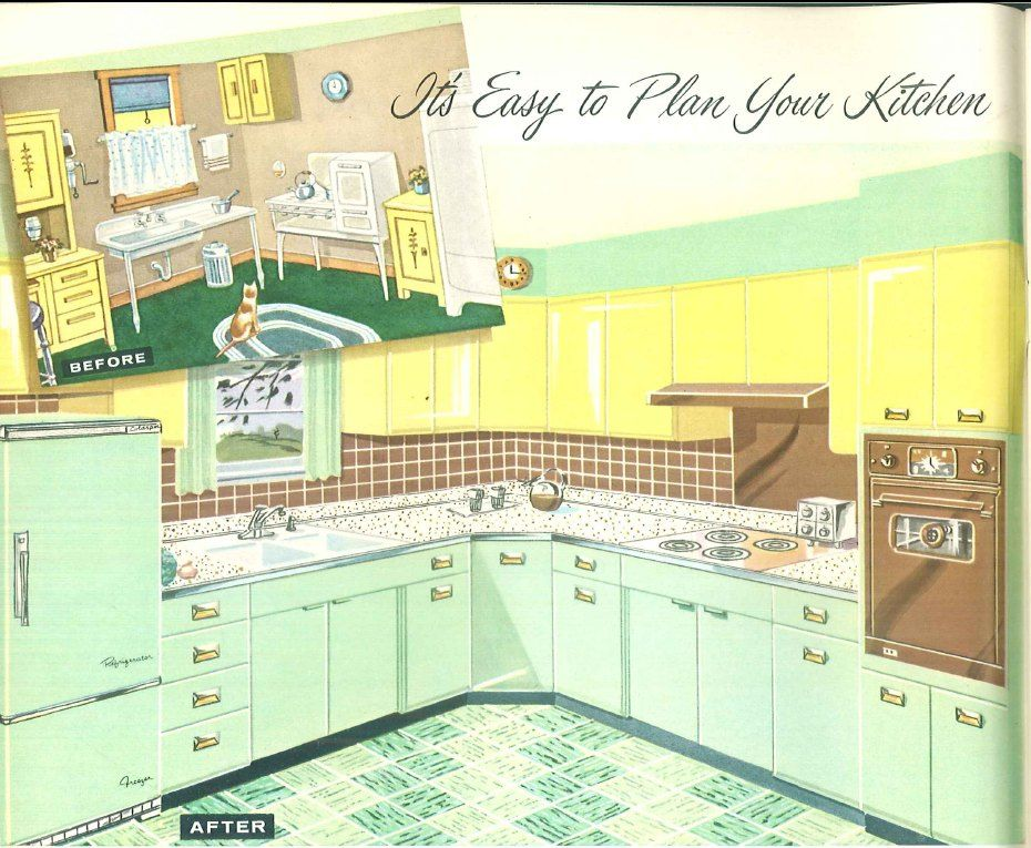 sears kitchen www cabinet design 1958 book roebuck co free download a wonderful pale green with steel cabinets click for all pages