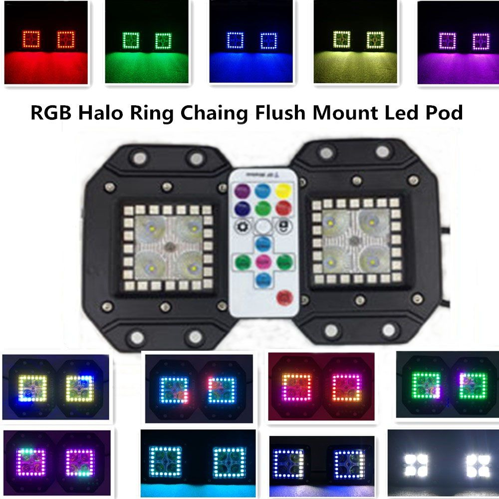0e482a92240c0e1cd373600d140e3fa1 3 2 inch 16w halo ring rgb chasing cree led pod with rf remote Off-Road Light Wiring Harness at n-0.co
