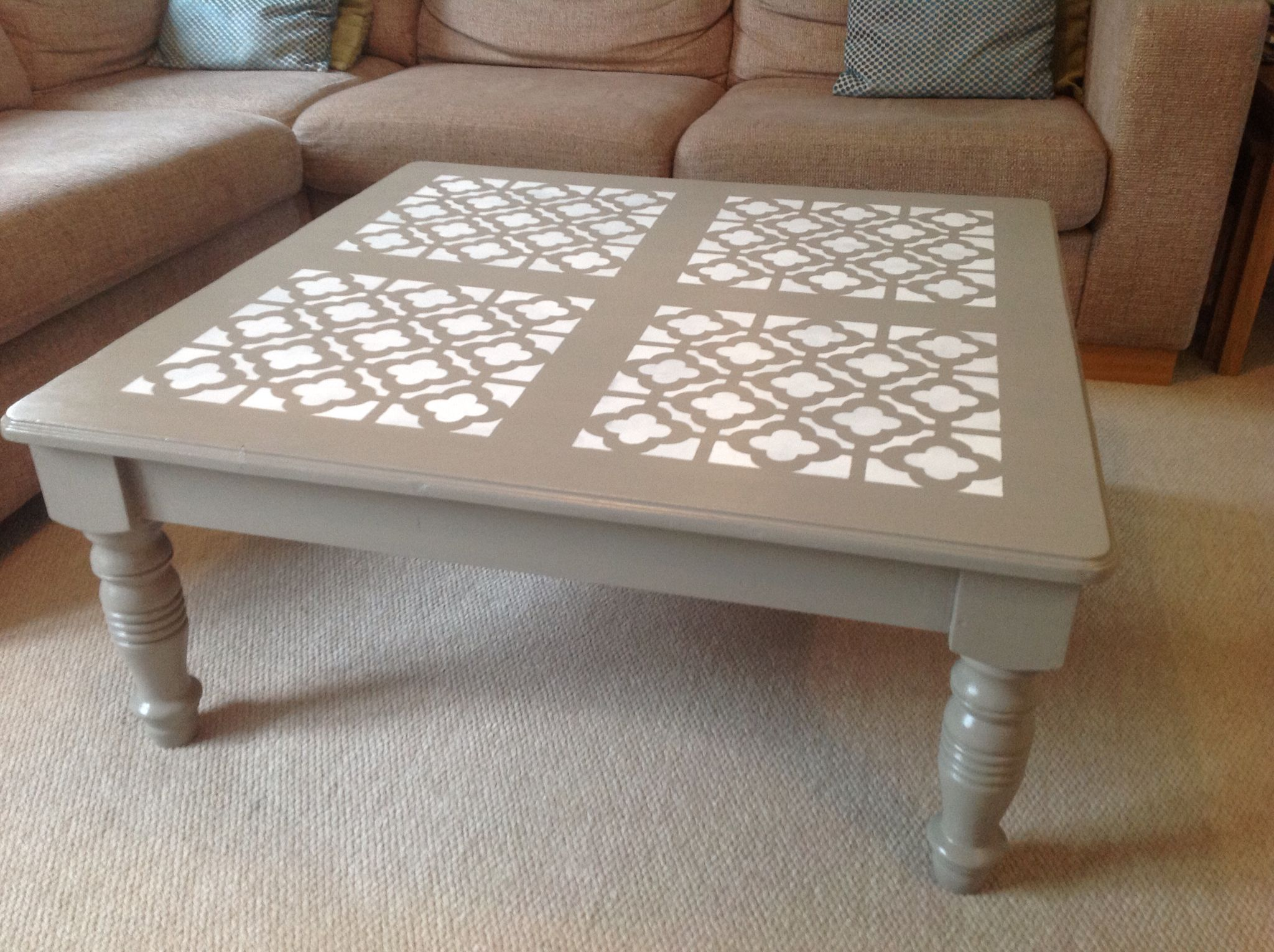 My Up Cycled Pine Coffee Table Painted With Autentico Chalk Paint In Concrete Coffee Table Coffee Table Upcycle Pine Coffee Table [ 1530 x 2048 Pixel ]