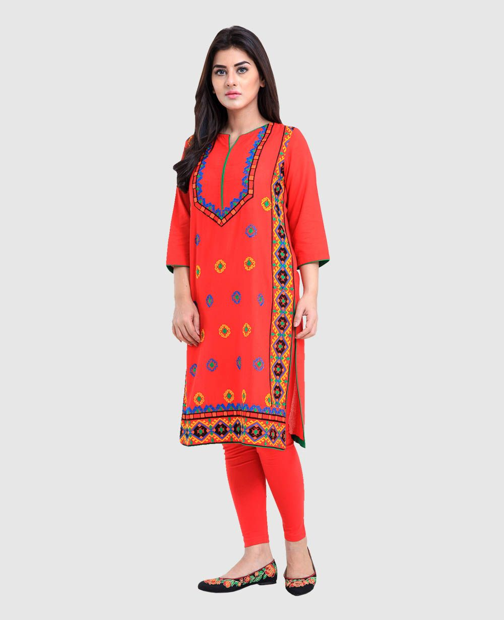 b21a4bcbc69f Rang Ja Latest Colorful Kurti Dresses 2018-2019 Eid Collection ...