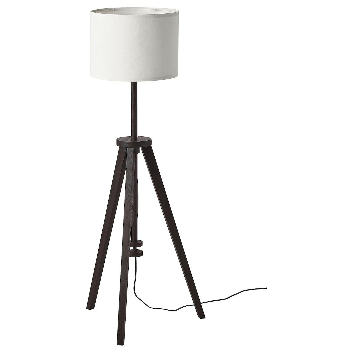 Ikea Lauters Floor Lamp Brown Ash White Floor Lamp White