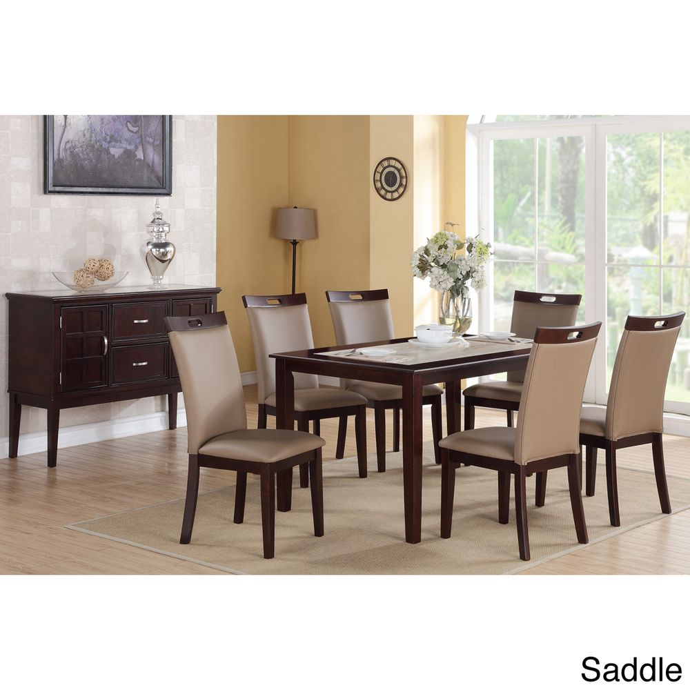 Rosi bicast leather dining chairs set of 6 dining for Best deals on dining room sets