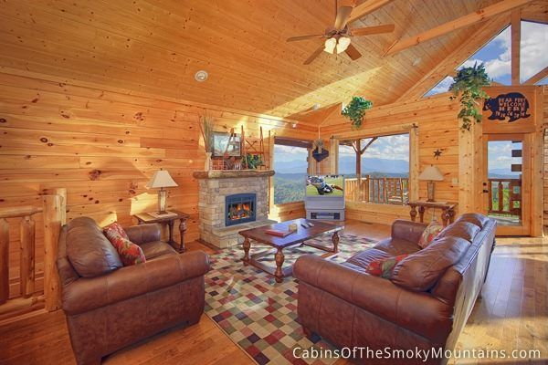 This looks cozy and scenic at the same time. Pigeon Forge 1-bedroom cabin called Pleasant View Ridge.