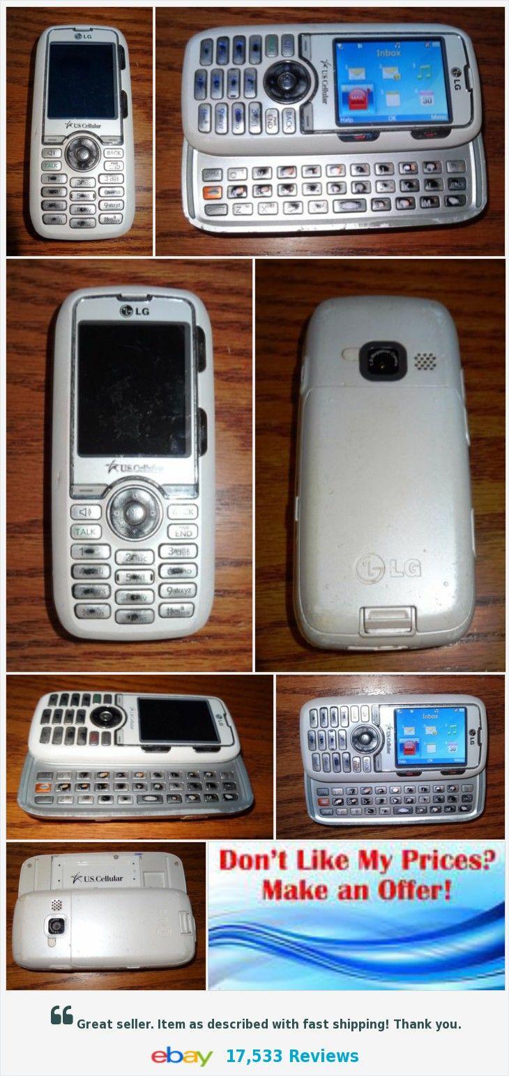 LG Rumor White Slider Cell Phone Black Used US Cellular Qwerty Smart ...