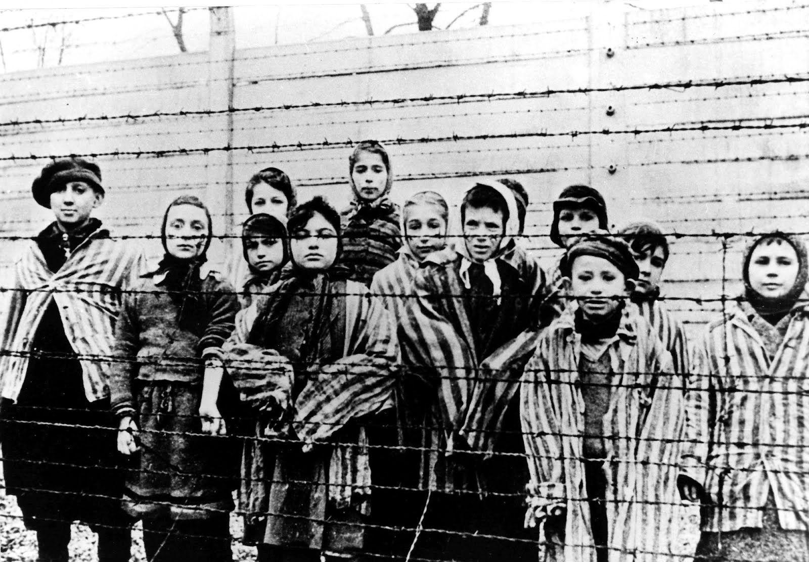 niños en el campo de concentración de auschwitz, polonia   lugares