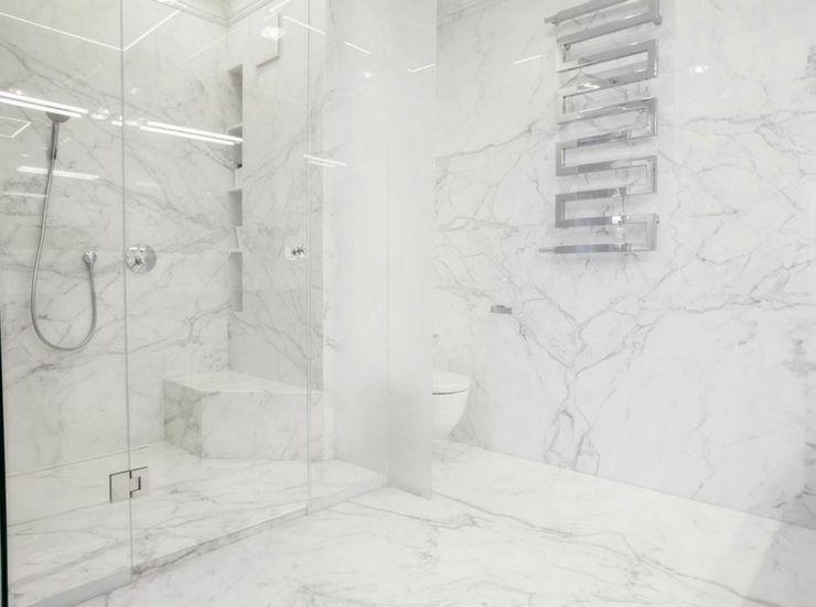 Appartement moderne au design épuré en blanc à Varsovie