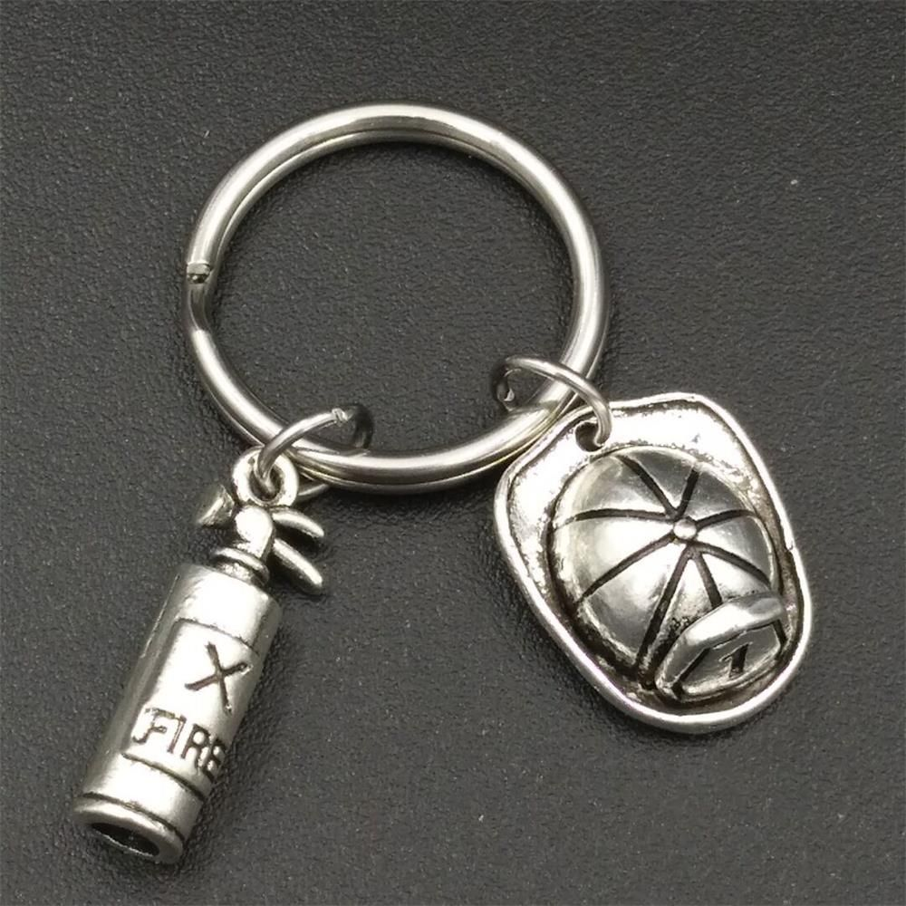 Mm stainless steel firefighter keyring diy fire extinguisher and