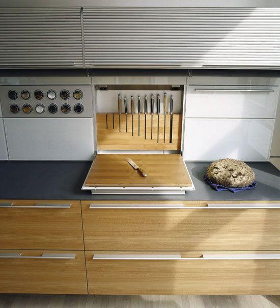 Rangement Planche A Decouper Couteau Cuisine Moderne Meuble