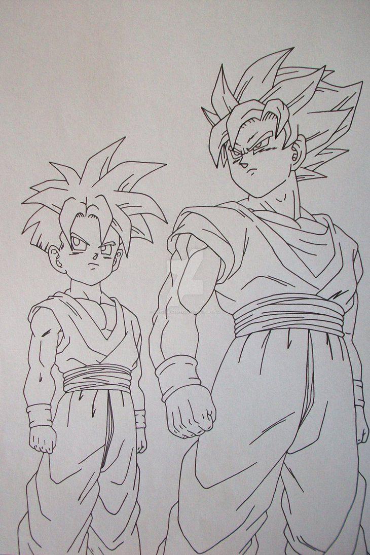 Super Saiyan Son Goku And Son Gohan By Sakakithemastermind Dragon Ball Super Art Dragon Ball Artwork Dragon Ball Art