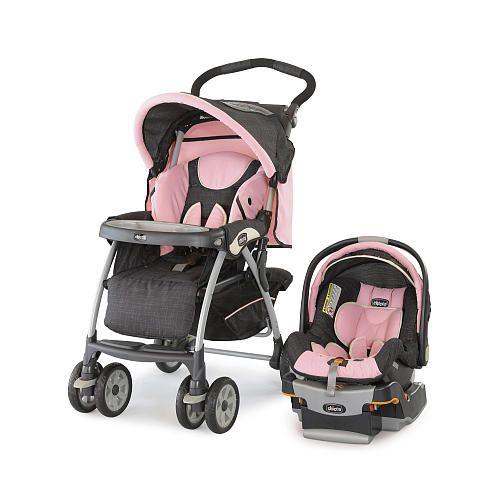 Chicco Cortina Travel System Stroller Bella Baby Girl Car