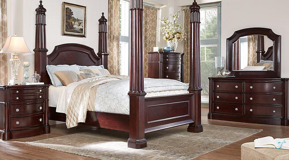 dumont cherry 5 pc king high poster bedroom   كرافي