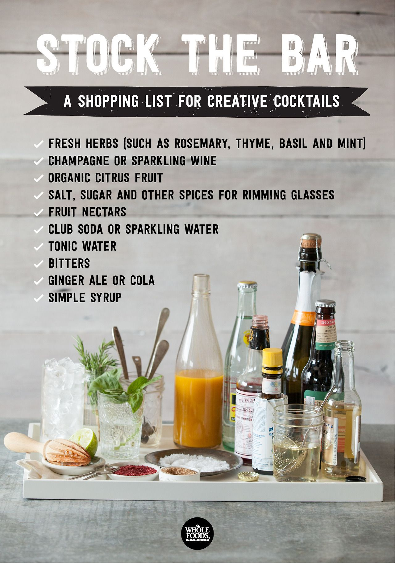 From Whole Foods: Stock the Bar, a Shopping List for Creative ...