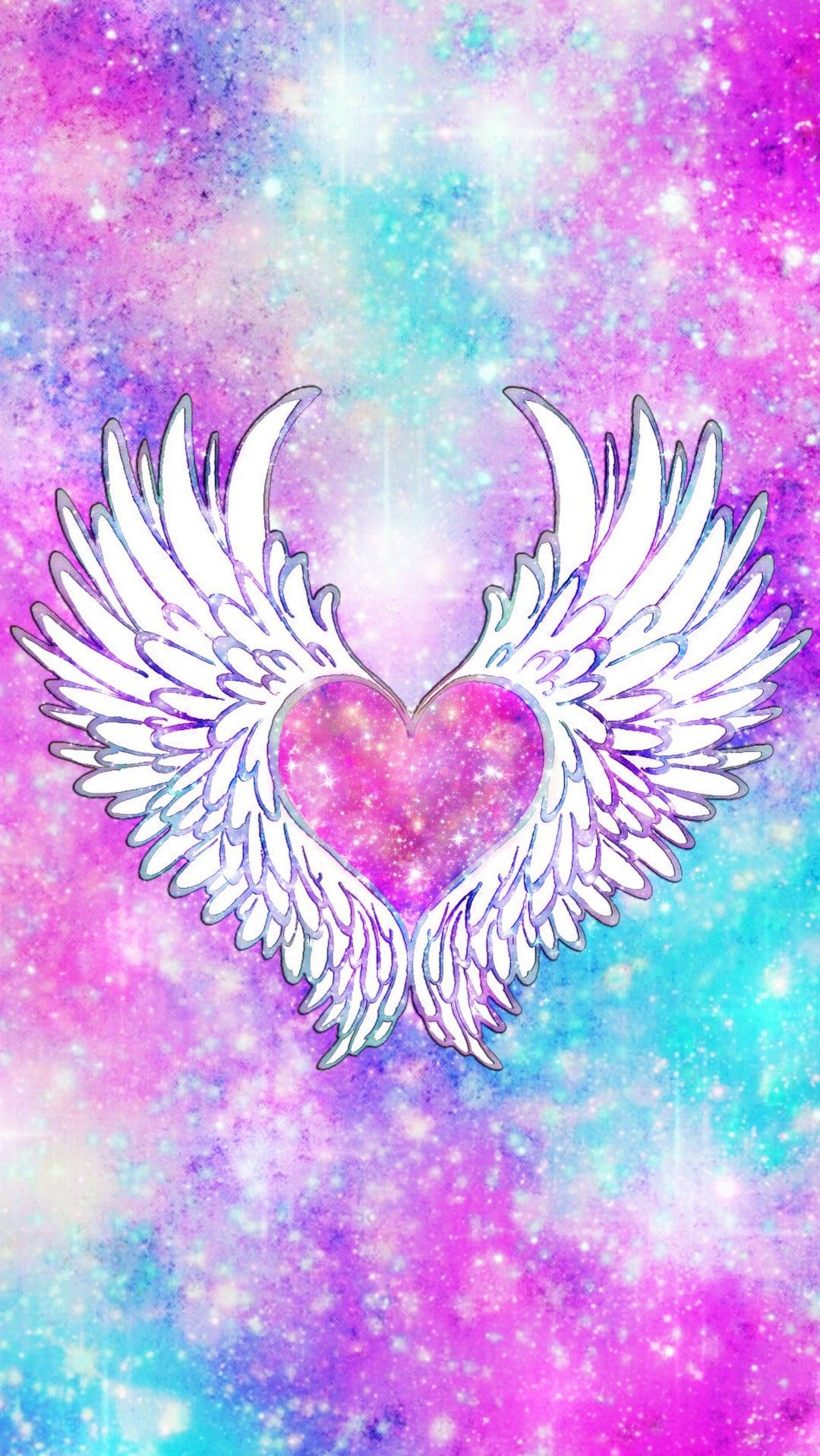 Wings Of Love Galaxy Made By Me Pink Galaxy Wallpapers Backgrounds Sparkles Glittery Art Cute Win Heart Wallpaper Love Wallpaper Wallpaper Backgrounds