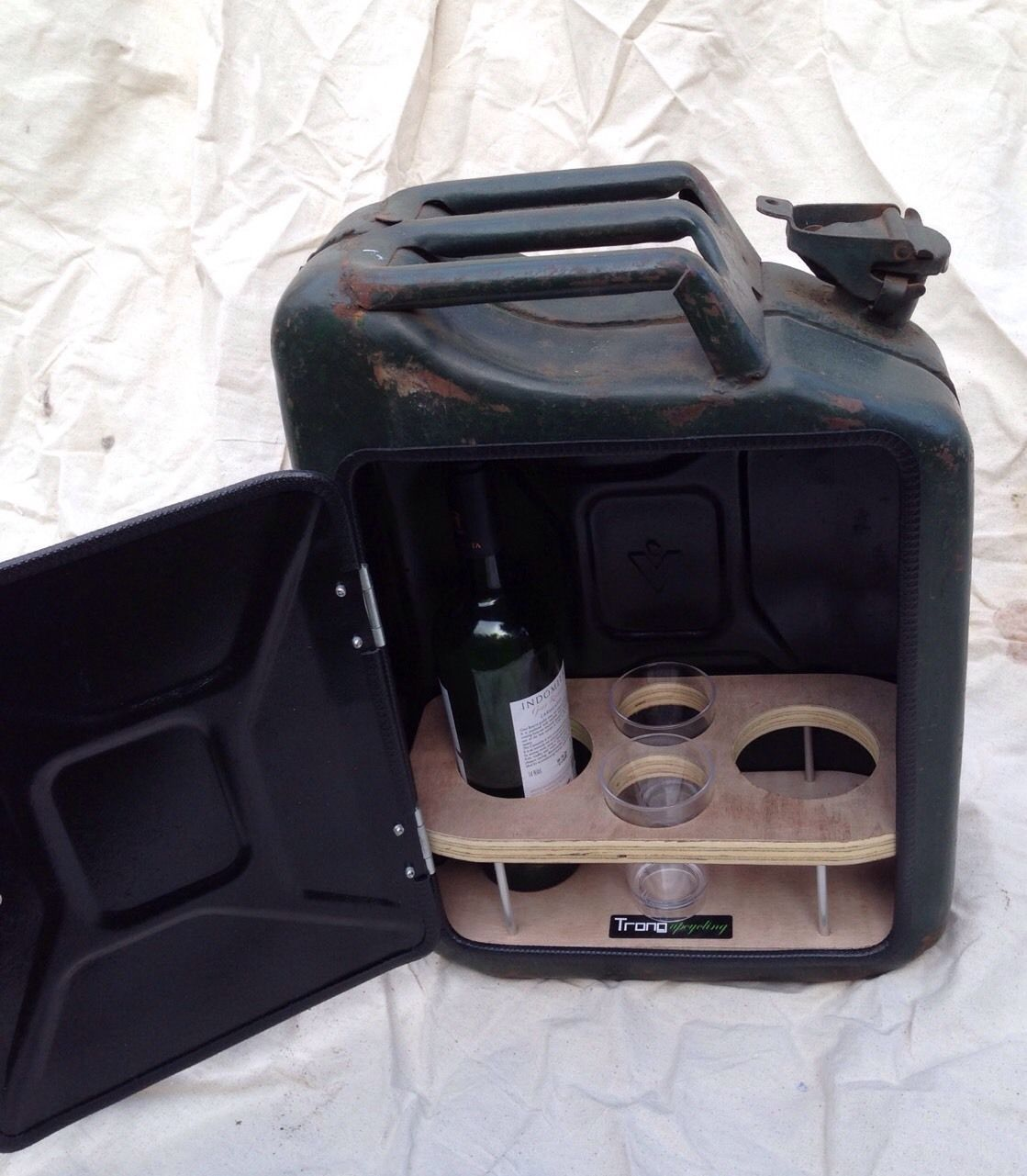 Man Cave Bbq Accessories : Upcycled jerry can mini bar picnic bbq campervan man