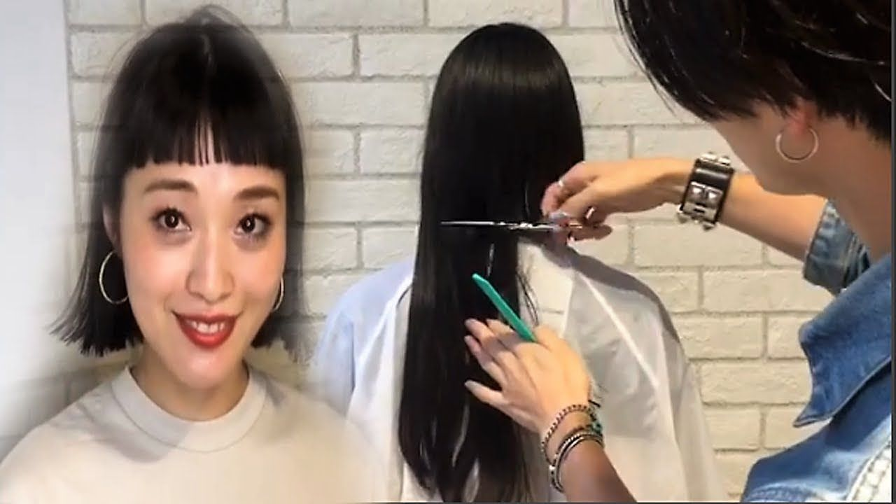 Very Long To Short Bob With Bangs Videos Before And After