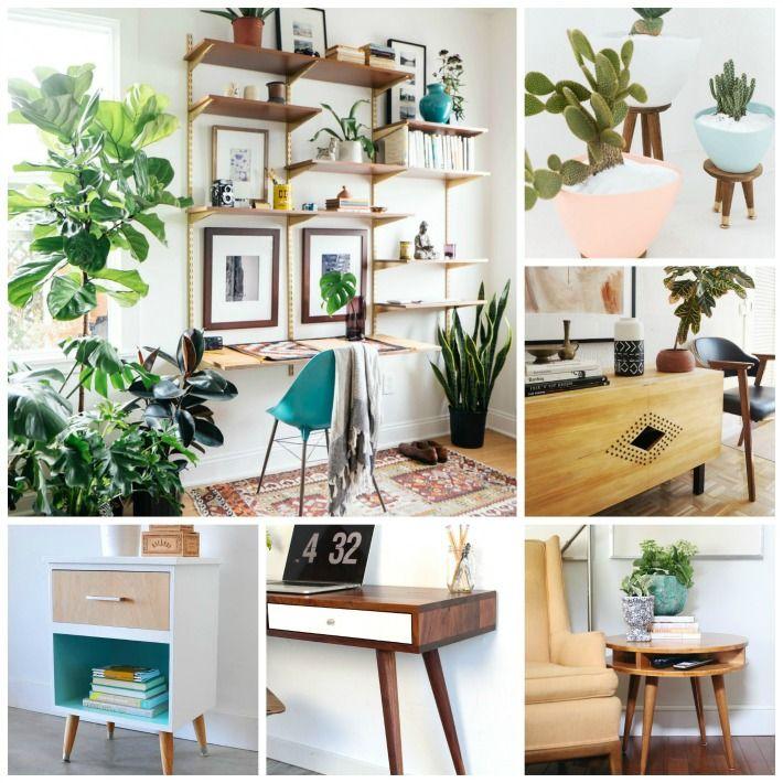 Decoración Fácil DIY Ideas Pinterest Office workspace and Mid - muebles diy