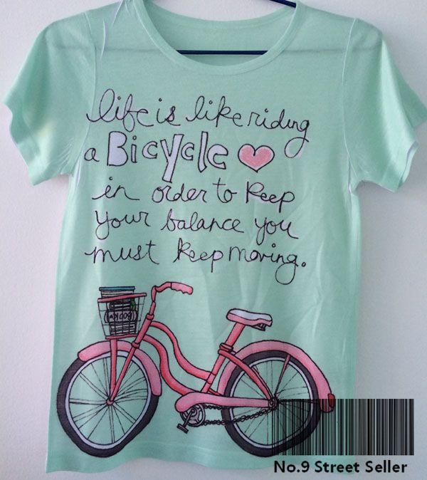Find More T-Shirts Information about Track Ship+New Vintage Retro Cool Rock&Roll Punk T shirt Top Tee Green Life like Riding Bike Bicycle Printed,High Quality bicycle print t-shirt,China bicycle jersey Suppliers, Cheap bicycle acessories from Betty Sewing&Clothes Factory on Aliexpress.com
