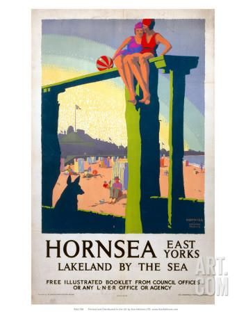 Hornsea Lner C 1930 Art Print At Art Com With Images Vintage Travel Posters Travel Posters Railway Posters