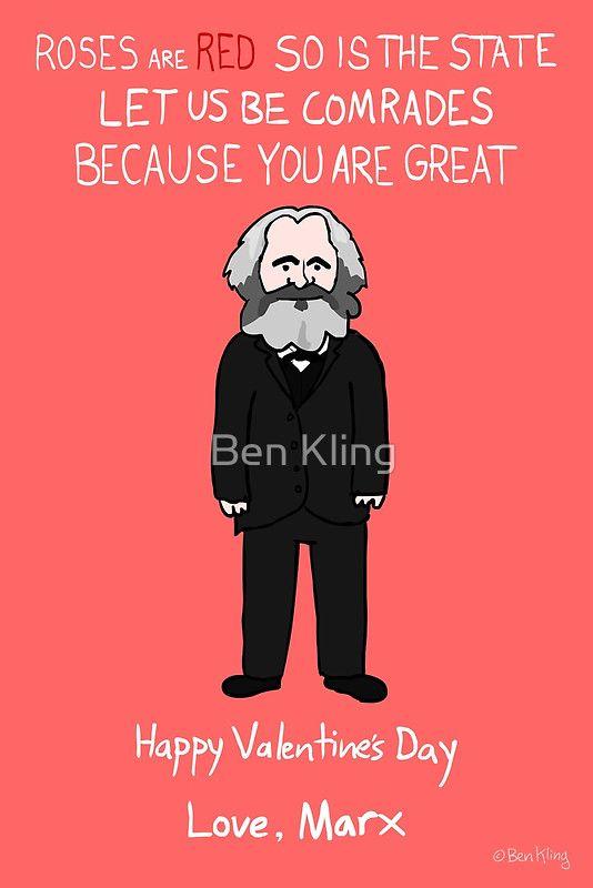 Karl Marx Greeting Card By Ben Kling Teacher Valentine Cards Historical Valentines Nerdy Valentines