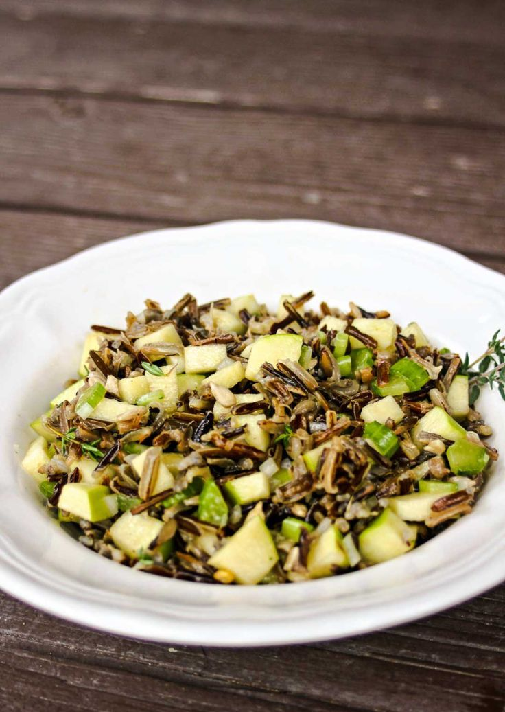 This Wild Rice Apple Salad pairs great with grilled meats!