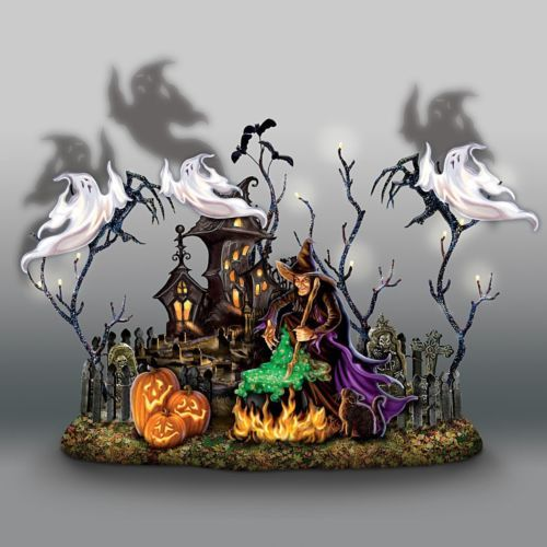 Halloween Animated Figure Light Up Sculpture Music Shadow Ghosts - best decorated houses for halloween