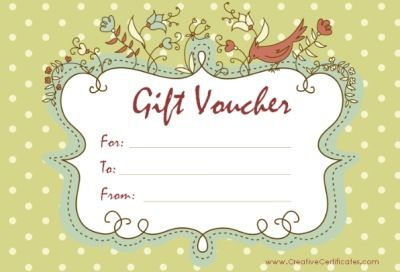 Gift Voucher Template  Images For Craft Projects