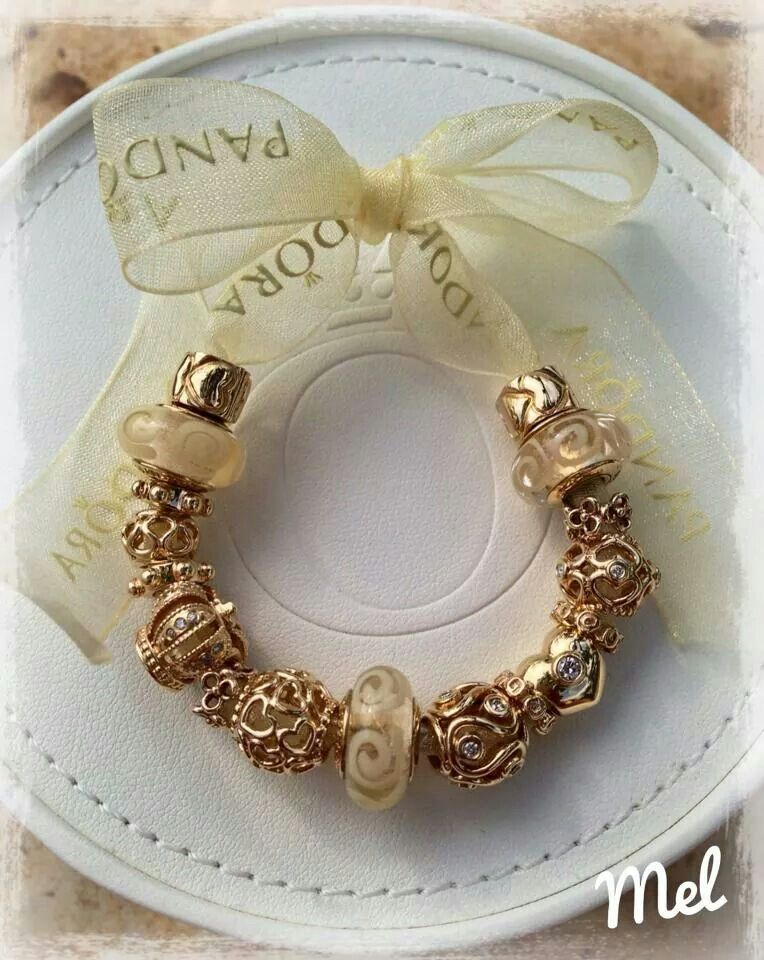 pandora gorgeous gold charms not much left in the gold. Black Bedroom Furniture Sets. Home Design Ideas
