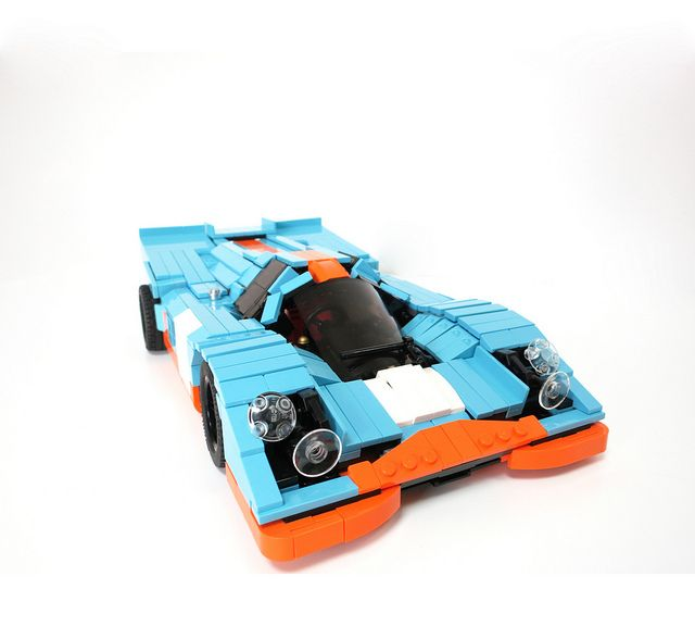 Lego Gulf Porsche 917 While I M Prejudiced Against Porsches Pretty Much Anything With This Much Detail Accuracy Made From L Lego Wheels Lego Cars Lego Trains
