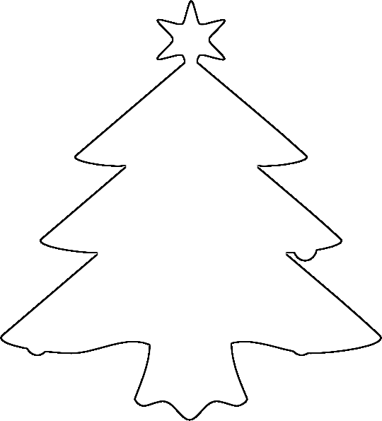 Christmas Tree Black And White Christmas Tree Clipart Outline Christmas Tree Clipart Christmas Tree Outline White Christmas Tree