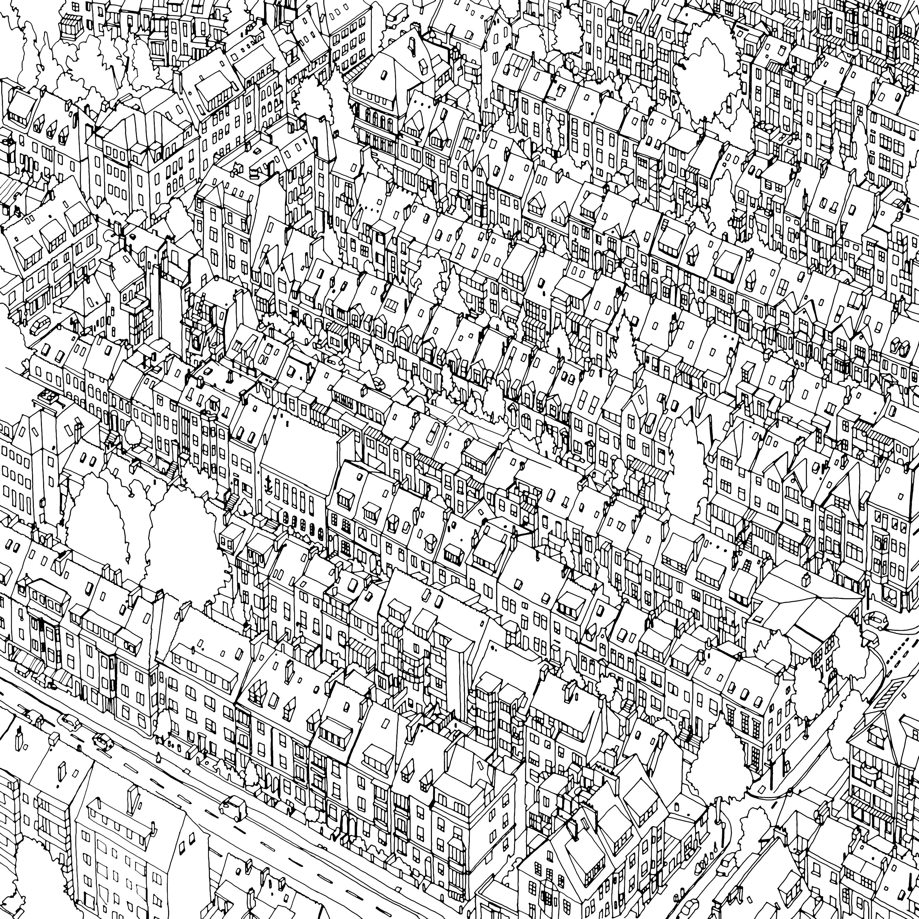 Grown up colouring book bored panda - Fantastic Cities Is A Unique Coloring Book For Adults That Chronicle Books Is Publishing In July The Book Is Full Of Incredibly Detailed And Unique