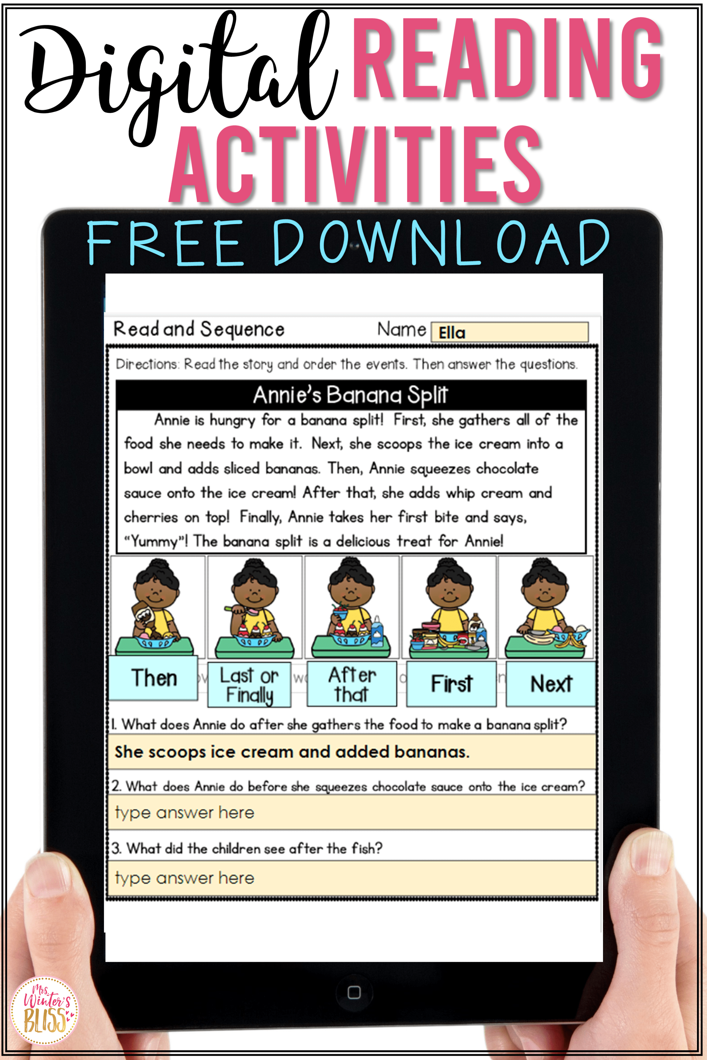 Digital Reading Activities For Elementary Students In