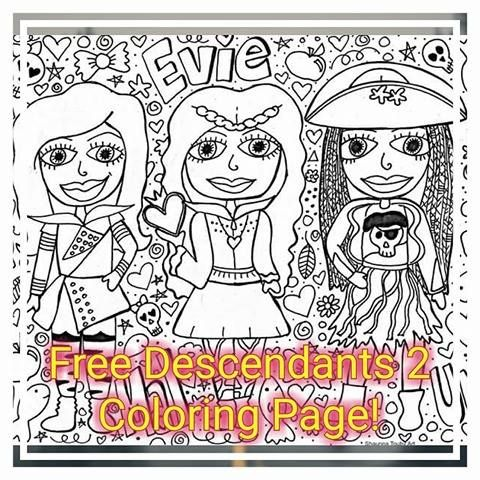 Free Descendants 2 Coloring Page Click This Photo Join Facebook Group And View Pinned Post Save Coloring Page Enjoy 3 Disney Descendants2 Descendant