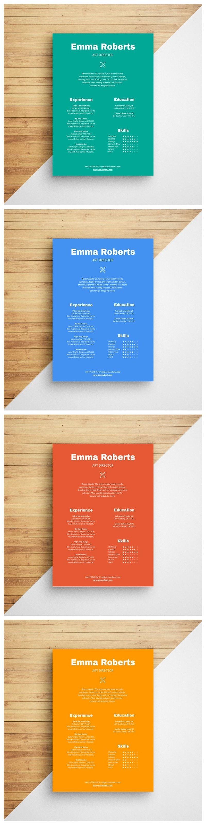 Colorful resume resume design infographic resume resume