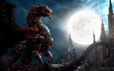 Огненный дракон | Фэнтези рисунки, Теневые картинки ...