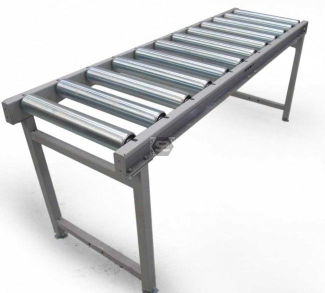 2.0 m hd roller conveyor table with legs at scott+sargeant