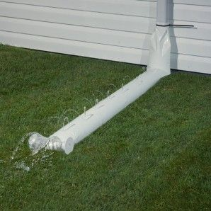 9ft Downspout Extensions White Downspout Gutter Extensions Drain Away