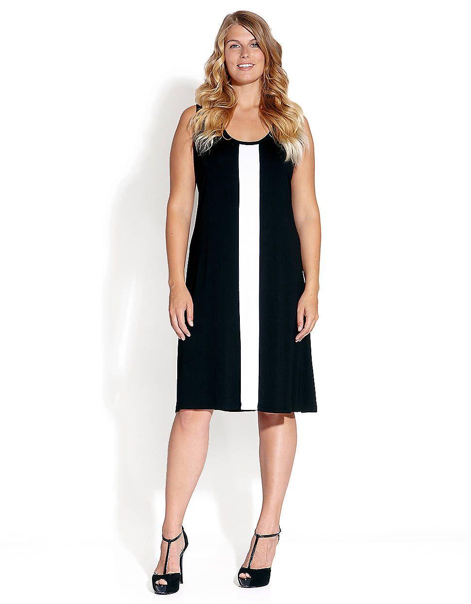 b648a919022 Plus Plus-Size Sleeveless Contrast Dress