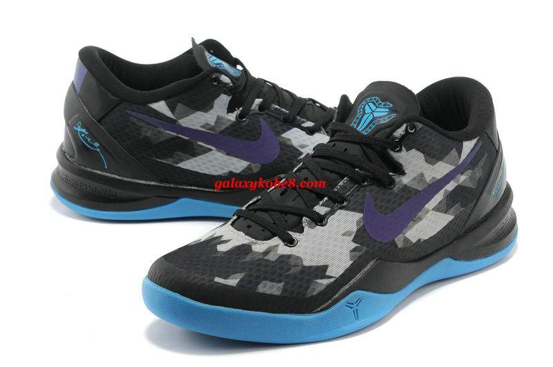 detailed look 5b40c 0ec7a Nike Kobe Elite 8 Black Purple Royal Blue 555035 009  Purple  Womens   Sneakers